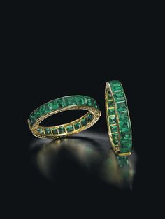 This pair of emerald bracelets, once owned by an Indian Royal family renowned for its enviable collection of emerald jewellery, is expected to fetch $1.5-2 million at Christie's Magnificent Jewels sale in Geneva next month.