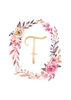 Looking to add some sparkle to your wall decor? Use these free glitter and glam monogram printables to add a fun personalized touch to any space! Floral Letters, Monogram Letters, Letters And Numbers, Monogram Wallpaper, Alphabet Wallpaper, Cute Wallpapers, Wallpaper Backgrounds, Iphone Wallpaper, Instagram Highlight Icons
