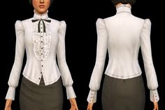 My Sims 3 Blog: Pride & Prejudice - Victorian Top with Bow by Shokoninio