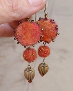 fun felt and bead and wire work earrings from Marcia DeCoster's blog back in 2009.