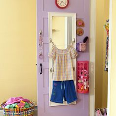 Clothes Calls - Back of the door clothes organizer.  Organize clothing the night before.