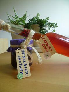Heidelbeerchutney und Erdbeeressig