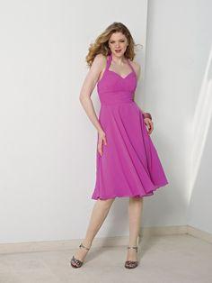 Stylish Halter Strap Sweetheart Chiffon Bridesmaid Dresses