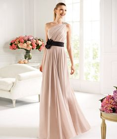 Pronovias presents the Canarias cocktail dress from the 2013 Long Dress collection. | Pronovias