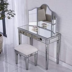 Rosdorf Park Orpha Contemporary Vanity with Mirror Mirrored Bedroom Furniture, Entry Furniture, Bar Furniture, Classic Furniture, Cheap Furniture, Rustic Furniture, Furniture Companies, Furniture Removal, Furniture Stores