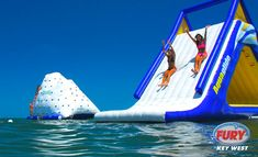 Water-sliding, Fury's Ultimate Adventure-Key West. Amazing water-play excursion...