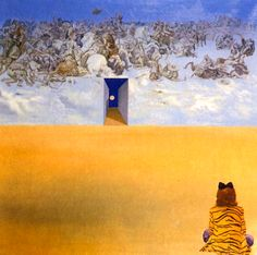BATTLE IN THE CLOUDS, 1974-- Salvador Dali