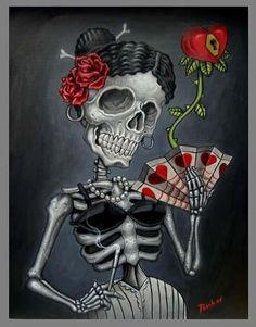 queen of <3 <3  Love the Day of the Dead - Mexican style!