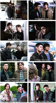 This makes my heart happy. Dean is the big brother & introduces his little brother Sam to people.
