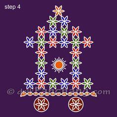 Ratham Rangoli Step 4