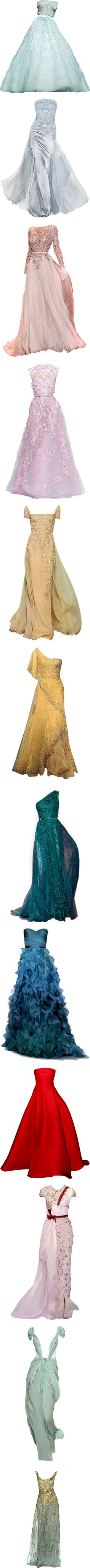 Disney Princess - Gowns by giovanna1995 on Polyvore featuring dresses, gowns, long dresses, vestidos, green dress, long green dress, long green evening dress, green ball gown, ballgowns and zuhair murad evening dresses
