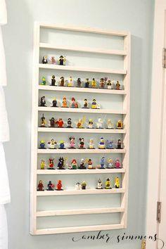 Lego Minifigure Shelf #organization #lego #storage