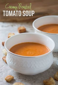 This easy roasted tomato soup involves very less preparation time. Doesn't require additional skills to make this delicious soup and no need to babysit this one when making.