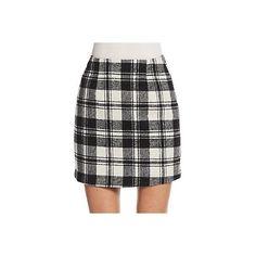 Zero Degrees Celsius Plaid Mini Skirt ($55) ❤ liked on Polyvore featuring skirts, mini skirts, tartan plaid mini skirt, tartan skirt, mini skirt, short skirts and plaid skirt