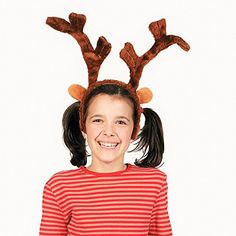 Set of 2 Plush Christmas Reindeer Antlers - Great Christmas Photo Props! >>> Read more at the image link.