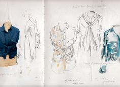 Fashion Sketchbook work - fashion design drawings; fashion portfolio // Alexandra Baldwin