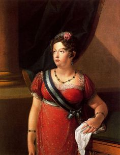 Maria Isabel of Portugal (1797-1818), infanta of Portugal and second wife of Ferdinand VII of Spain   artist and date unknown