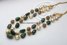 emerald pearl nakshi beads chain