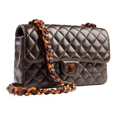 Chanel Brown and Tortoise Vintage Flap | From a collection of rare vintage handbags and purses at http://www.1stdibs.com/fashion/accessories/handbags-purses/