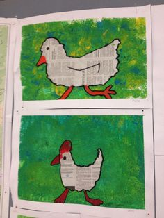 crafts for kids elementary Chicken Crafts, Chicken Art, Summer Art Projects, School Art Projects, Easter Art, Easter Crafts, Spring Arts And Crafts, Art For Kids, Crafts For Kids
