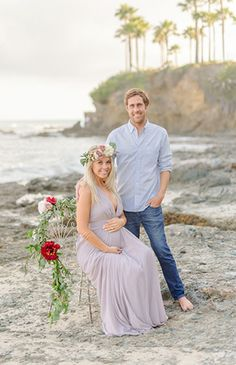 Lavender Laguna Beach Maternity Session – Inspired By This