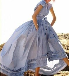 periwinkle poofy shirtdress