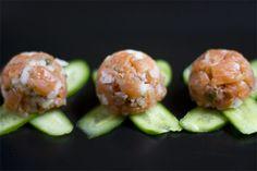 Yerbabuena en la cocina: Tartar de salmón ahumado