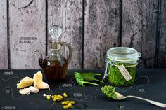 Pesto de espinafres e pistácios