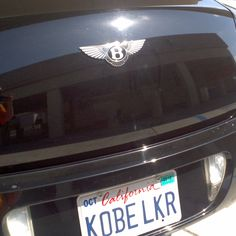 KOBE BRYANT'S CAR AT ORANGE COUNTY AIRPORT!!!!!! OMG!