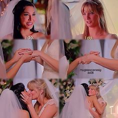"#Glee 6x08 ""A Wedding"" - Santana and Brittany"