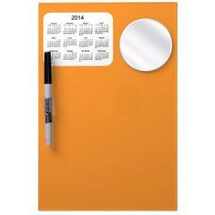 Pumpkin Orange 2014 Dry Erase Calendar Dry-Erase Whiteboard Design from Calendars by Janz