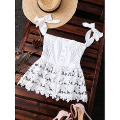 Off The Shoulder Lace Sheer Stripe Top (White) Look Fashion, Trendy Fashion, Womens Fashion, Fashion Styles, Fashion Clothes, Essentiels Mode, Looks Style, My Style, Summer Outfits