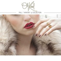 OhKuol Launches Fall/Winter 2013 Jewelry Collection With Rich Fall Colours And Edgy Druzies