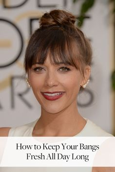 Sideswept, straight across, curly or wispy—anyone who has ever had bangs knows that they tend to get greasy much faster than the rest of your hair does. Here's how to freshen up your fringe without having to start from scratch.