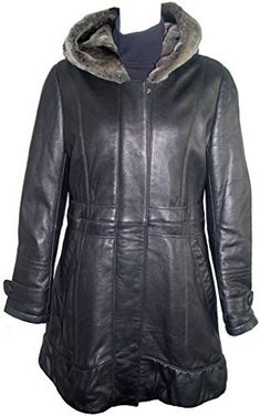 "Product review for Paccilo 5000 Leather Coat With Hood Womens The Parka Fake Fur Soft Lamb.  - Fixed Hood with Faux Fur, Zipper Placket Front Closure, Welt Pocket, Lined, REGULAR FIXED LINING WITH INSULATION, Petite Regular Plus Size. Not all leather is the same. When vendors say or state, ""leather or genuine leather"", they generally use ""pig skin"", which is the worst..."