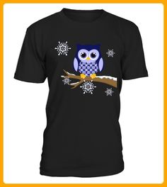 Winter blue owl Womens long sleeved tshirt - Winter shirts (*Partner-Link)