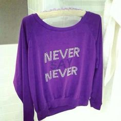 Justin Bieber Signature Women/'s Purple Hoodie Official Licesnsed Music