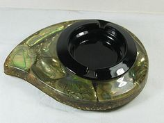 Vintage ABALONE Shell ASHTRAY Lucite by LavenderGardenCottag, $9.00