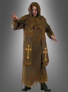Untoter Zombie Priester Kostüm für Halloween und Zombiewalk