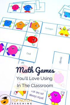 Math games are a non-threatening and motivational way to provide additional practice to help kids consolidate math skills. Yes, there are tons of online math games, but there's something to be said for low tech versions! #mathactivities #mathgames #teachingmath