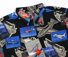 NWT Reyn Spooner Hawaiian Aloha Shirt Fighter Jets Planes Air Races 1948 Size M #ReynSpooner #Hawaiian