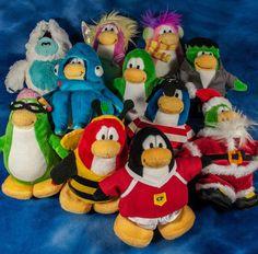 11 mixed lot DISNEY CLUB PENGUIN plush toys NO CODES no coins PREOWNED  #Disney