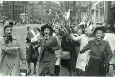 People celebrating the liberation of Denmark. 5th May 1945. | by National Museum…