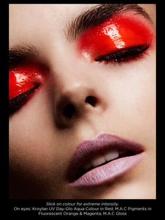 Makeup Editorial: The Eyes Have It for Plaid Mag