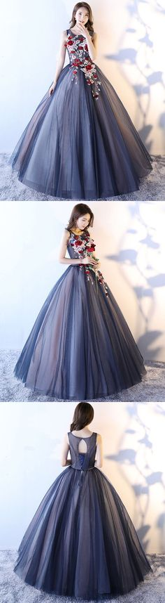 Prom Dresses Beautiful, Blue tulle lace long prom dress, evening dresses, Looking for the perfect prom dress to shine on your big night? Prom Dresses 2020 collection offers a variety of stunning, stylish ball. Tight Prom Dresses, Gold Prom Dresses, Blue Evening Dresses, Unique Prom Dresses, Long Prom Gowns, Pretty Dresses, Elegant Dresses, Homecoming Dresses, Evening Gowns