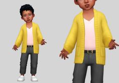 knit cardigan   casteru on Patreon Dress Remove, Man Skirt, Sims 4 Mm Cc, Sims 4 Toddler, The Sims 4 Download, Wide Leg Jeans, Cropped Sweater, Toddler Outfits, Knit Cardigan