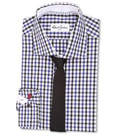 ROBERT GRAHAM ROBERT GRAHAM - BERLIN DRESS SHIRT (NAVY) MEN'S LONG SLEEVE BUTTON UP. #robertgraham #cloth #