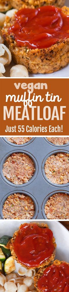 NO tofu or eggs in these portable vegan meatloaf cupcakes that are so easy to make