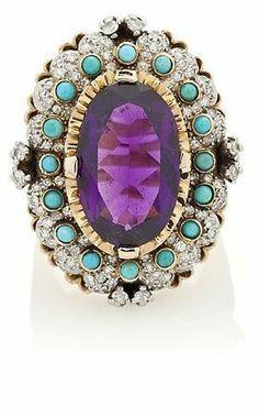 Opals & amethyst