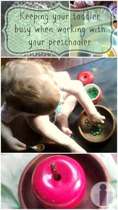 how to keep toddler busy entertained when teaching preschooler